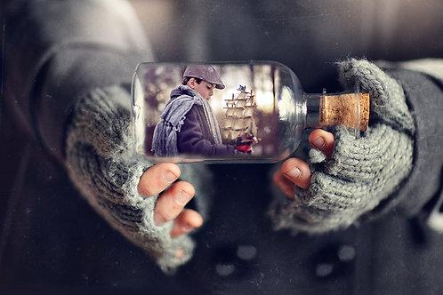 Vintage Bottle Template