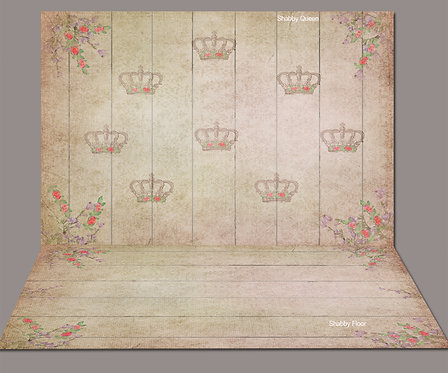 Shabby Queen Backdrop