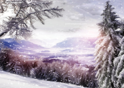 Painted Winter Backdrop