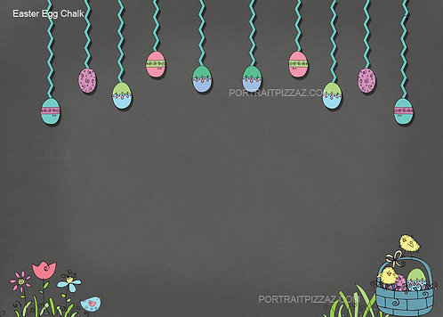 Easter Egg Chalk Backdrop