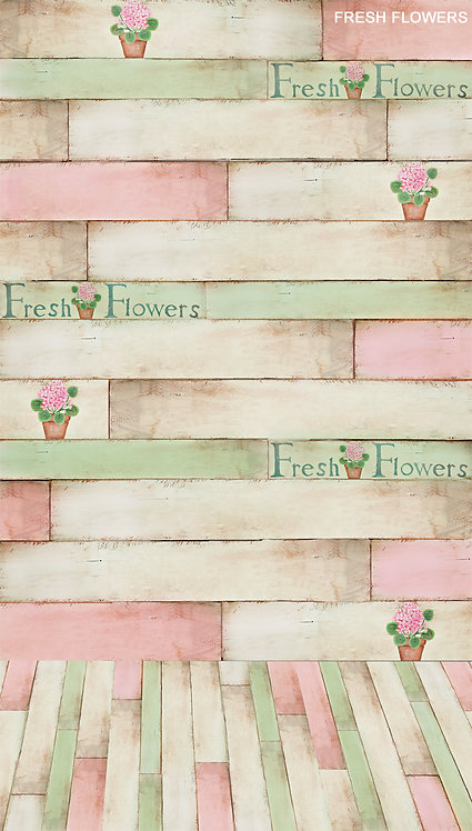 Fresh Flowers Backdrop