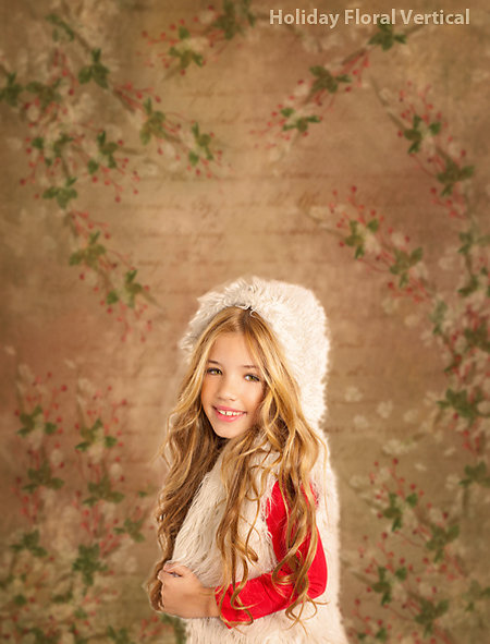 Holiday Floral Backdrop