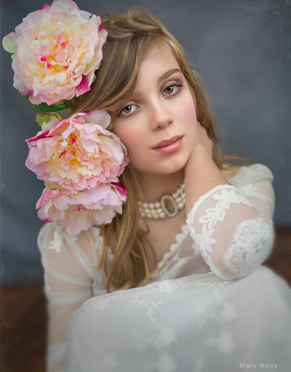 Studio Floral Portrait