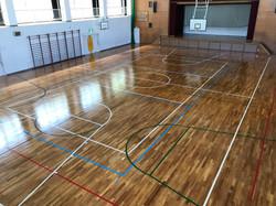 小学校体育館フローリング再生2