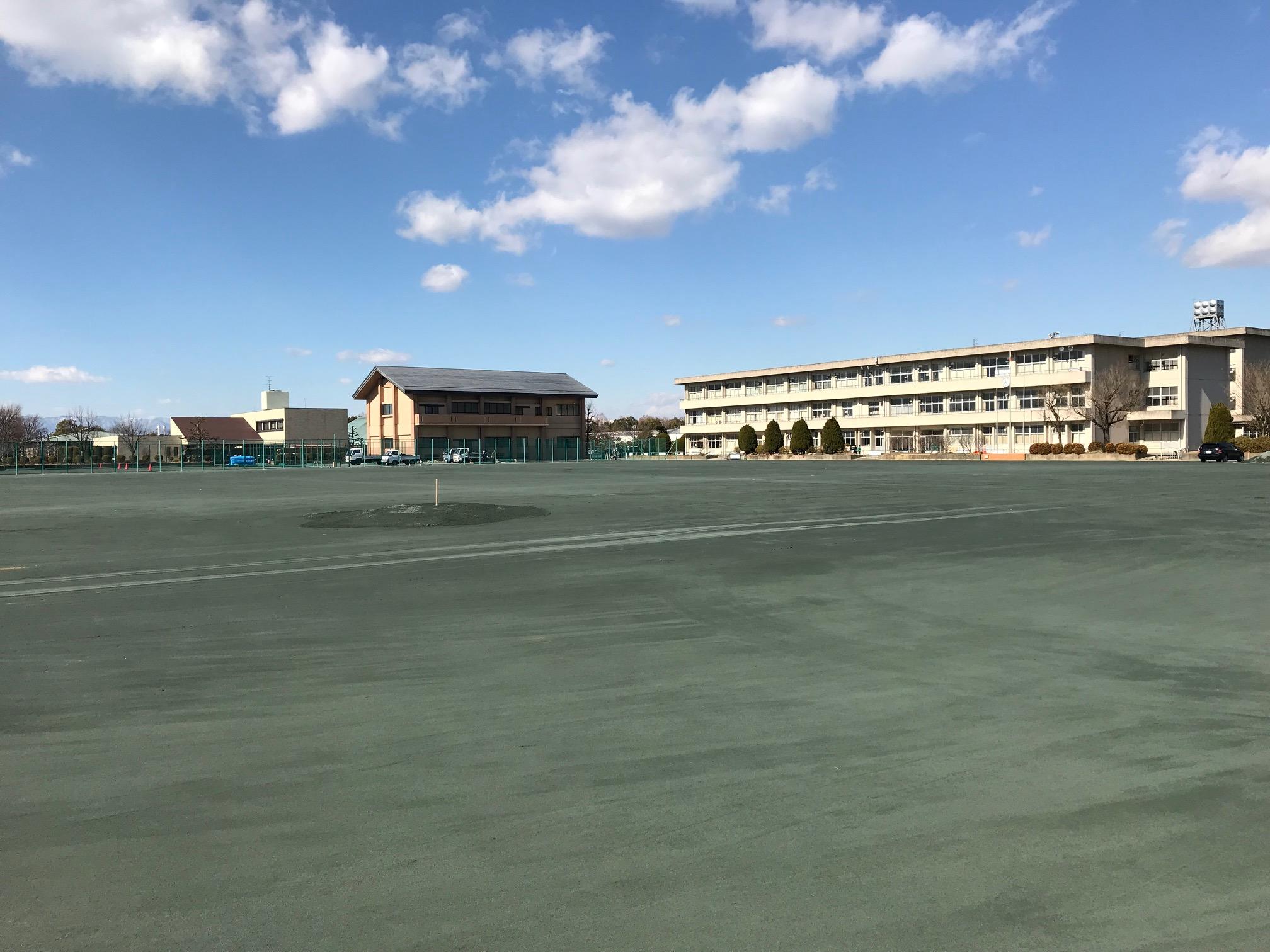 中学校 スクールサンド舗装 (2)