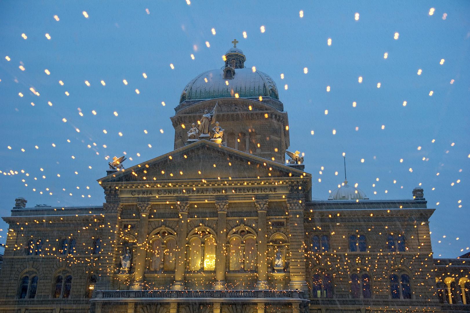 Palais fédéral de nuit