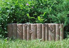бордюр садовый дубовый для клумб