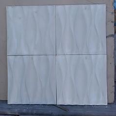"""Стеновая гипсовая панель """"Волн широкая"""" 50*50 см"""