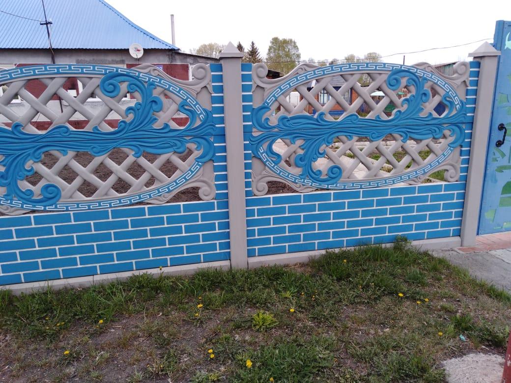Декоративный бетонный забор в Кемеро