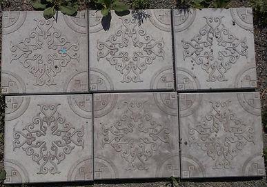 Тротуарная плитка оберег 30*30*3 см разных цветов