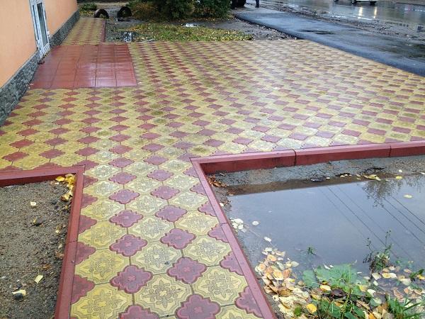 тротуарная плитка клевер мощение