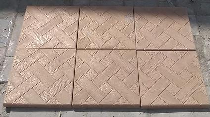 Тротуарная плитка плетень (ялта) бежевая