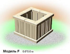 многоярусные клумбы из бетона модель F 60*60 cv