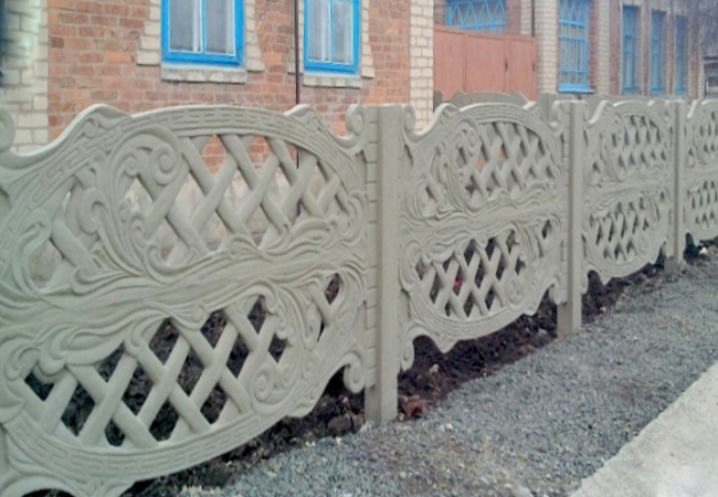 "Бетонный забор ""Ажурная"" 1 метр"