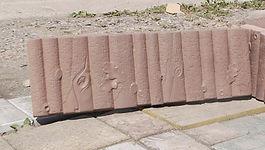 бордюр садовый дубовый коричневый