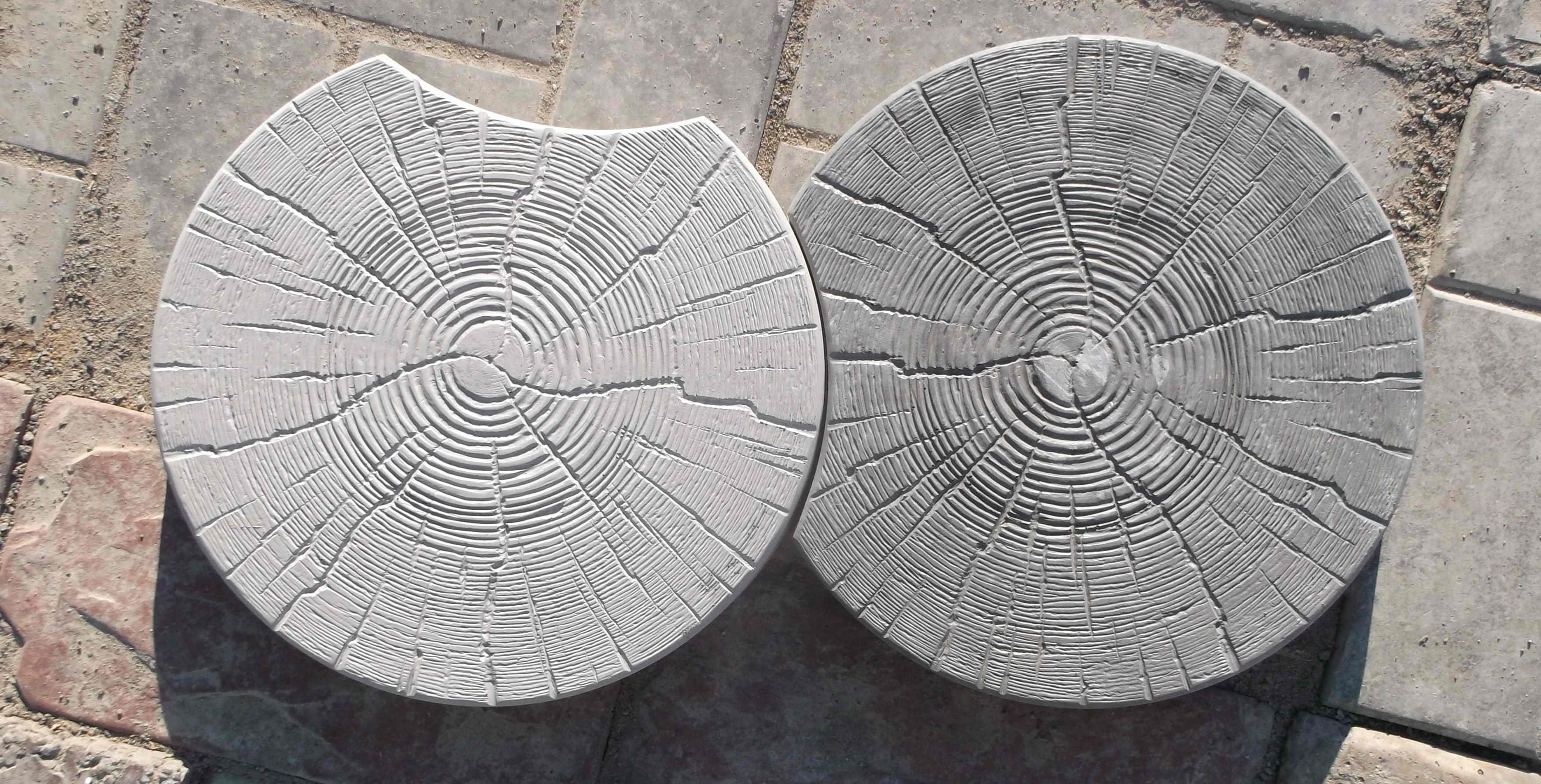 тротуарная плитка Спил (пенек) серый