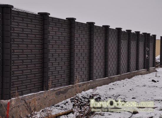 """Забор бетонный """"классик"""""""