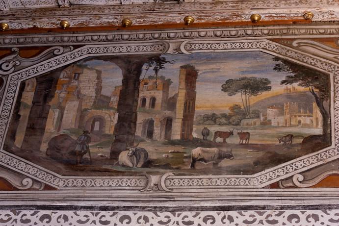 Paesaggio nella stanza rosa, Agostino Tassi