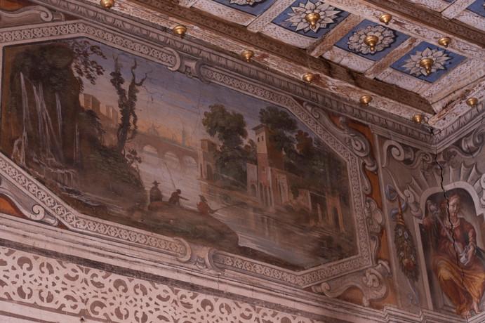 Scene di PAesaggio nella stanza rosa, Agostino Tassi