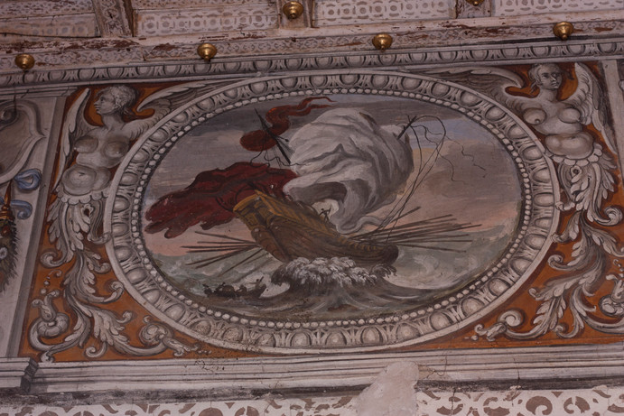 Scene di Marina nella stanza rosa, Agostino Tassi