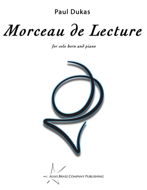 Morceau de Lecture for Solo Horn and Piano