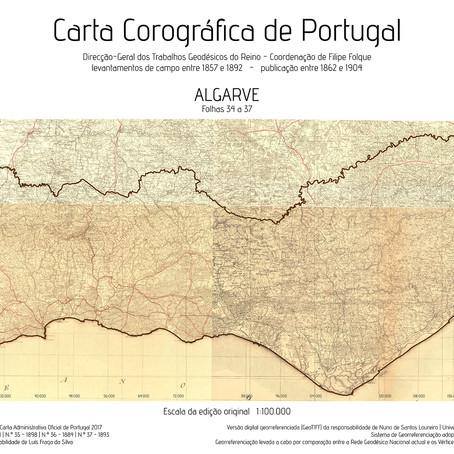 O Algarve na Carta Corográfica de Portugal
