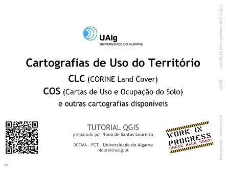 QGIS | Corine Land Cover | Algarve