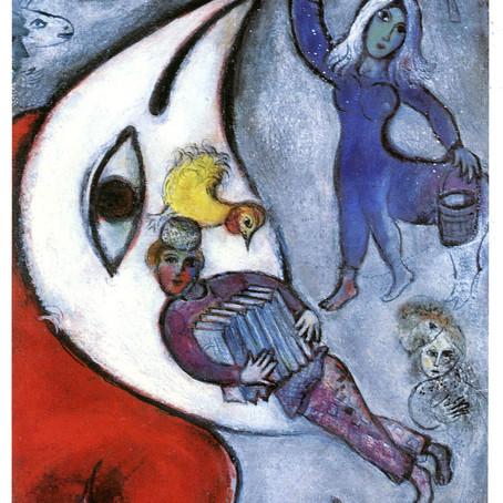 Chagall e o tocador de acordeão