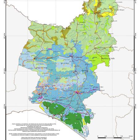 Carta Agrícola e Florestal de Loulé no início do Séc. XX