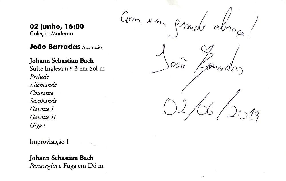 Um autógrafo do João Barradas!