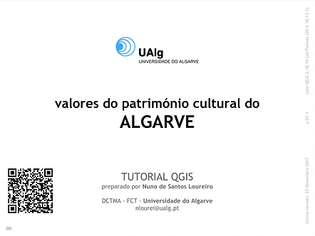 QGIS | valores do património cultural | Algarve