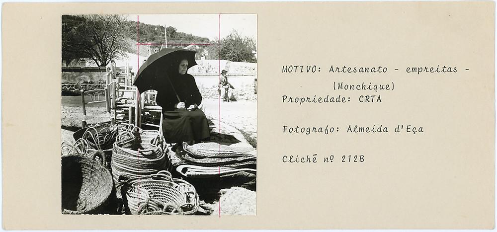 Uma das fichas de arquivo preparadas por Luís de Almeida d'Eça e actualmente existentes do CDI da RTA.