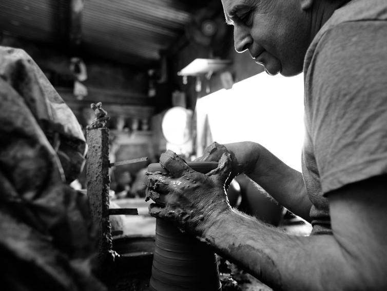 Mestre Armando Martins | oleiro | Nova Olaria de Estoi | 24 de Maio de 2017