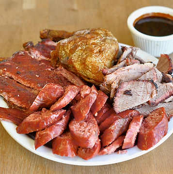Meat Combo: Ribs, Links, Chicken, Beef