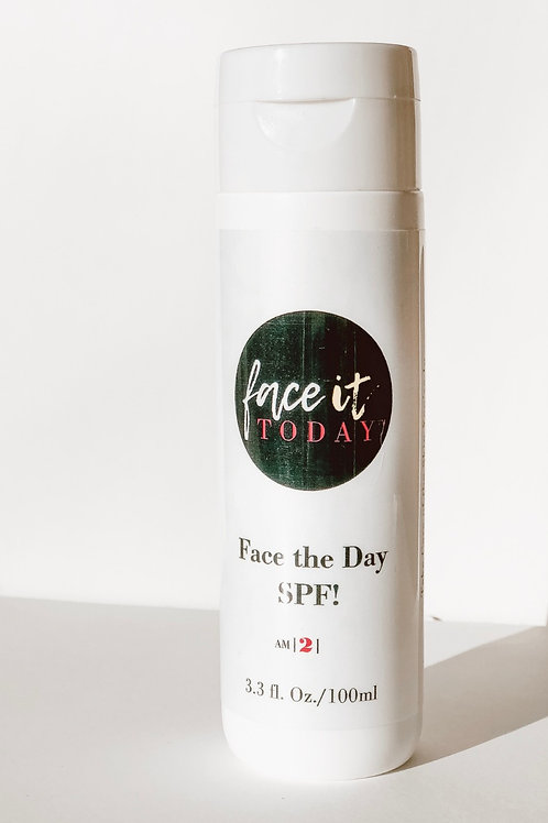 """Face The Day SPF 30. """"Take care ofthe Skin You're In."""""""