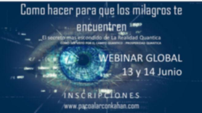 Flyer Webinar Los MIlagros te encuentren