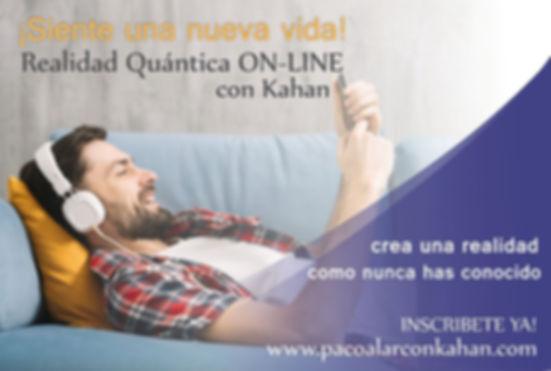 Flyer REALIDAD QUANTICA ON LINE  hombre