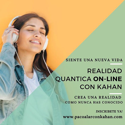 Flyer REALIDAD QUANTICA ON LINE mujer 5
