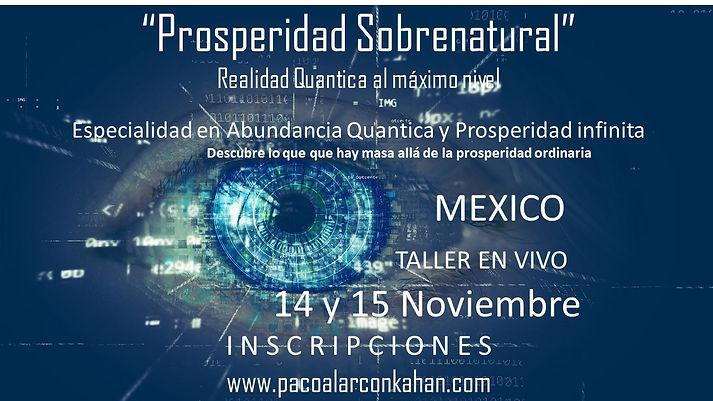 Flyer Taller Mexico Prosperidad Sobrenat