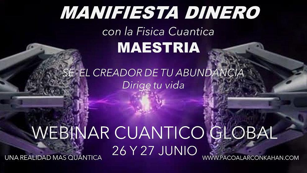 Flyer Webinar Dinero Maestria 26 y 27 Ju