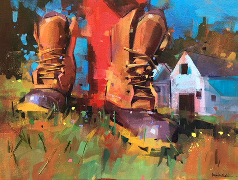 Home Is Where The Boots Are | 18x24