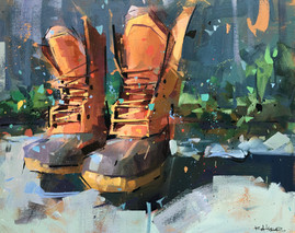 Oh, Where These Boots Have Been   16x20
