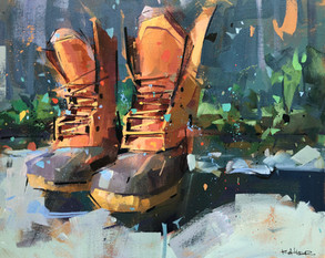 Oh, Where These Boots Have Been | 16x20