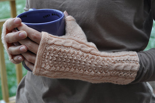 Ostrich Plume Mitts
