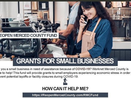 Reopen Merced County Fund is open for applications