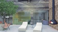 Aménagement d'un hammam et sauna dans le solarium