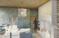 Cabine de massage du RDC aveec accessibilité PMR