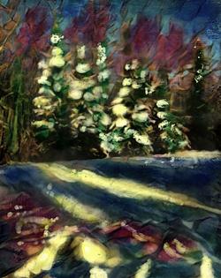 Winter Trees - photo encaustic