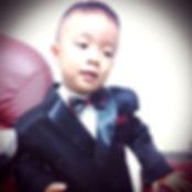 boy black & red tuxedo