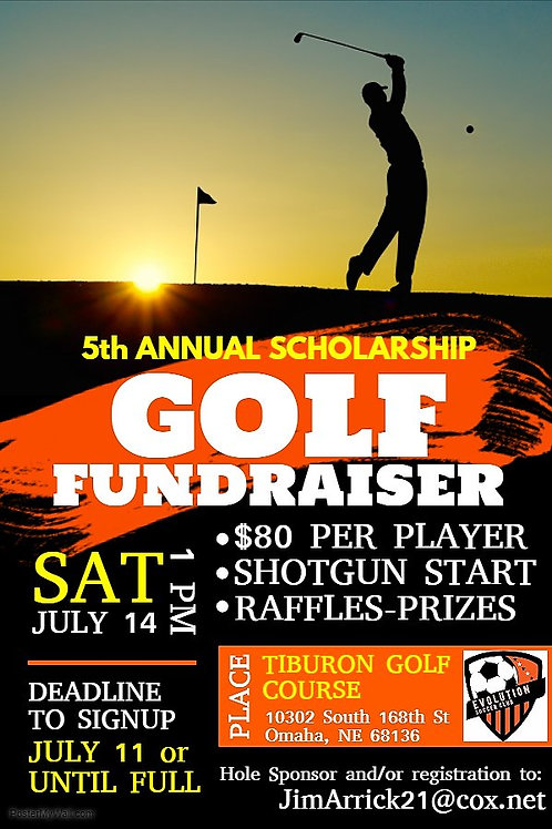 Evolution Golf Scramble Scholarship Fundraiser Naming Rights